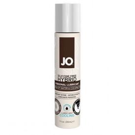 Водно-масляный лубрикант с охлаждающим эффектом JO Silicone free Hybrid Lubricant COOLING - 30 мл.