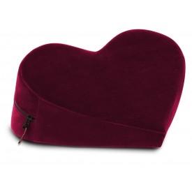 Малая бордовая подушка-сердце для любви Liberator Heart Wedge